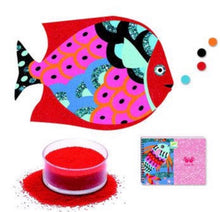 Load image into Gallery viewer, Djeco sand and glitter art box - fish rainbow