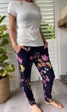 Load image into Gallery viewer, Freda and Dick structured trouser - Navy floral