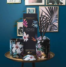 Load image into Gallery viewer, Stoneglow Urban Botanicals candle with lid in printed tumbler - Cattleya ylang ylang