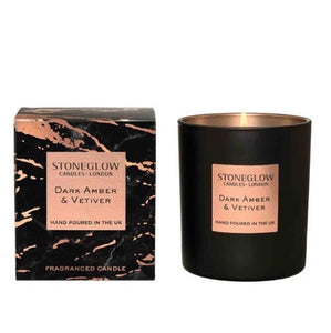 Stoneglow Luna candle - Dark Amber and Vetiver