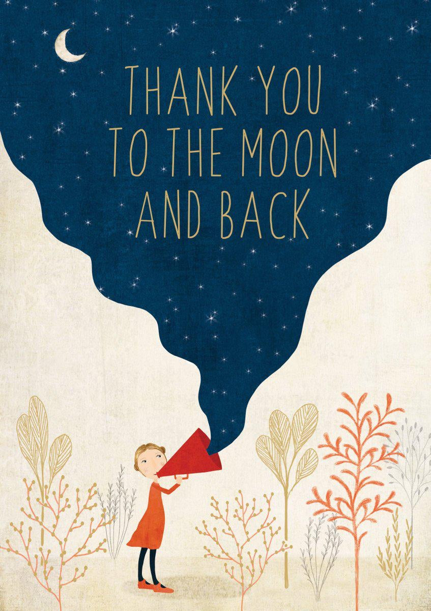 RLB Thank you to the moon And back - loudspeaker card
