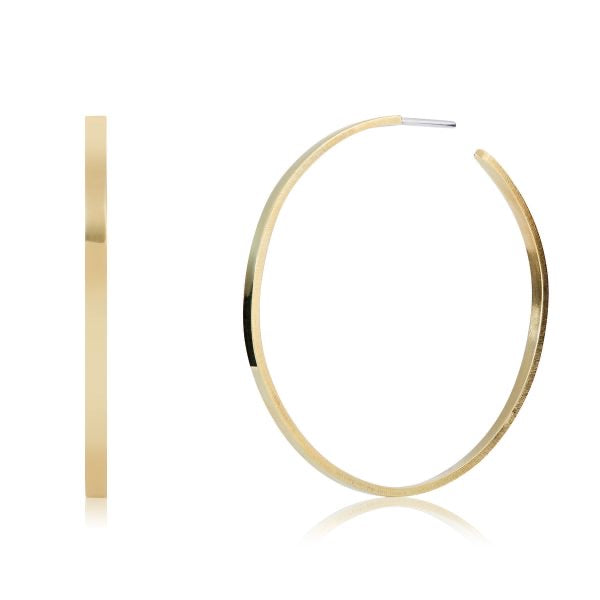 Large plain hoops - brass