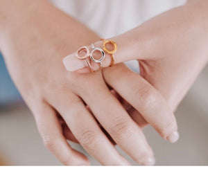 Circle ring - Silver gold plated