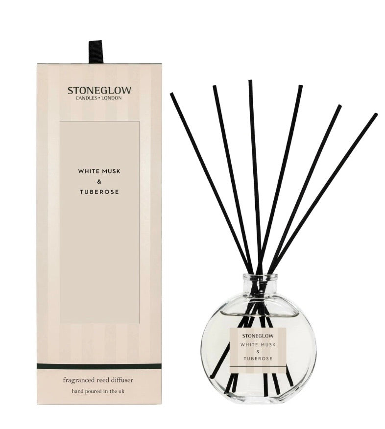 Stoneglow Modern Classic - White Musk & Tuberose Reed Diffuser 120ml