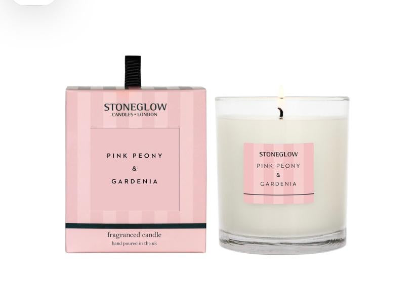 Stoneglow Modern Classics candle - Pink print and gardenia