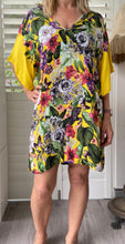 Load image into Gallery viewer, Freda and Dick v neck dress - yellow jungle