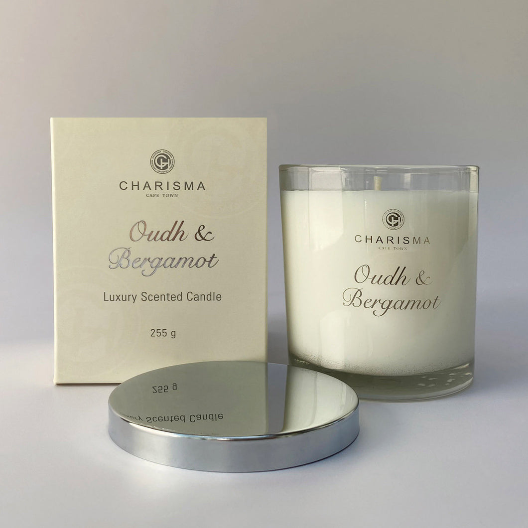 Charisma single wick candle 255g - Oud and Bergamot