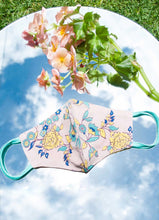 Load image into Gallery viewer, Diana Light-Weight reversible Face Mask - blush Bombay Floral