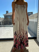 Load image into Gallery viewer, Freda and Dick Celine dress - Cream tie dye floral