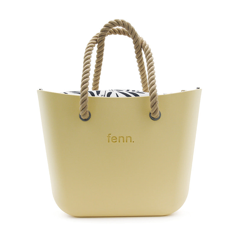 Fenn original bag - Yellow with rope handle and patterned inner
