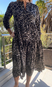 Mastik Peasant dress - animal print
