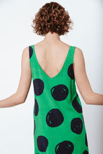 Load image into Gallery viewer, Good shift dress - Green polka