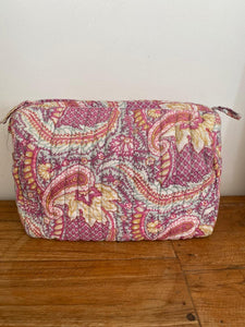 Anokhi large box cosmetic bag - Purples
