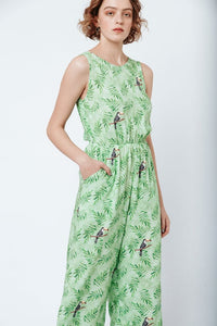 Good jumpsuit - green toucan