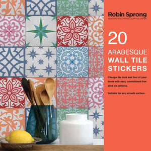 Robin Sprong vinyl wall tiles - Arabesque