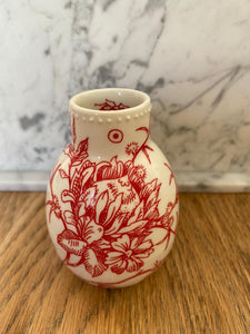 Hand-painted Porcelain vase - Tiny bulb
