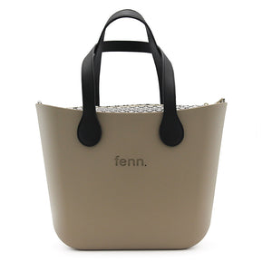 Fenn original bag - Stone with black handle and pAtterened inner