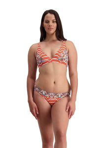 Samburu twin straps top and reversible ruched front pant -multi