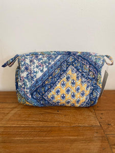 Anokhi small box cosmetic bag - blue yellow