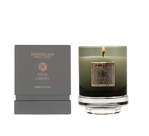 Stoneglow Metallique candle - Rose Ambre