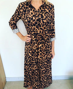 Freda and Dick Nicola dress - bold leopard