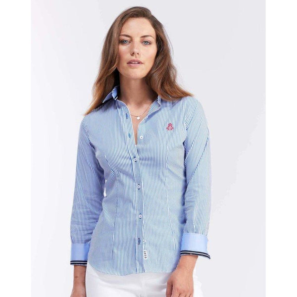 Blue & White Stripe Shirt - croftonandhall
