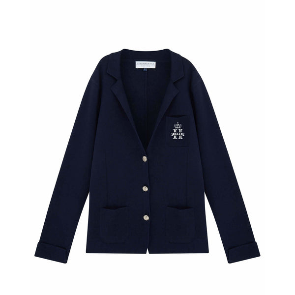 Navy Knitted Jacket - croftonandhall