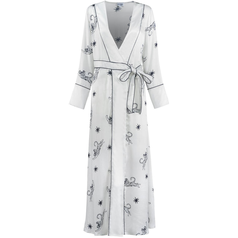 Trixie Rani Silk Wrap Dress - croftonandhall