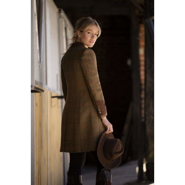 Demelza Tweed Check Wool Coat - croftonandhall