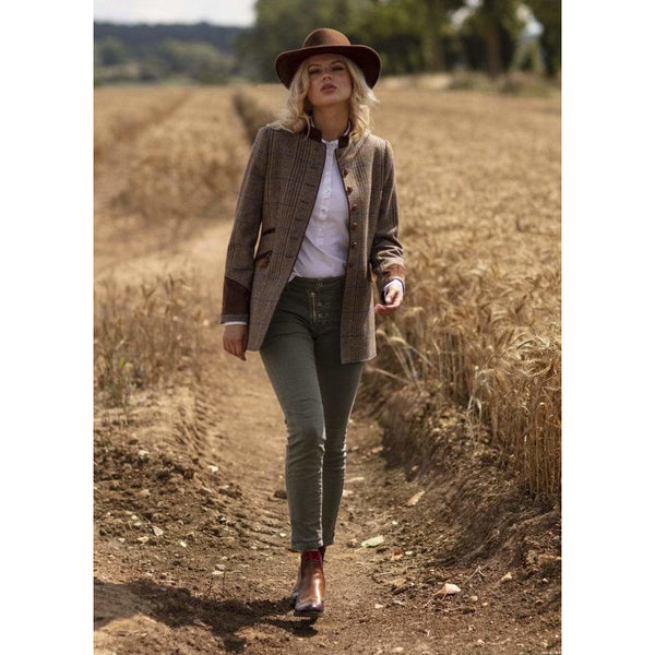 Balmoral Tailored Jacket in Tweed Check - croftonandhall