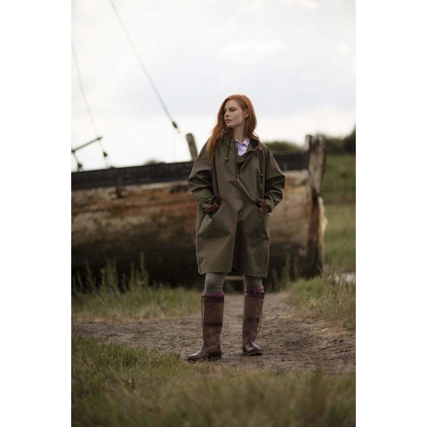 Water Resistant Smock in Olive - Oversized - croftonandhall