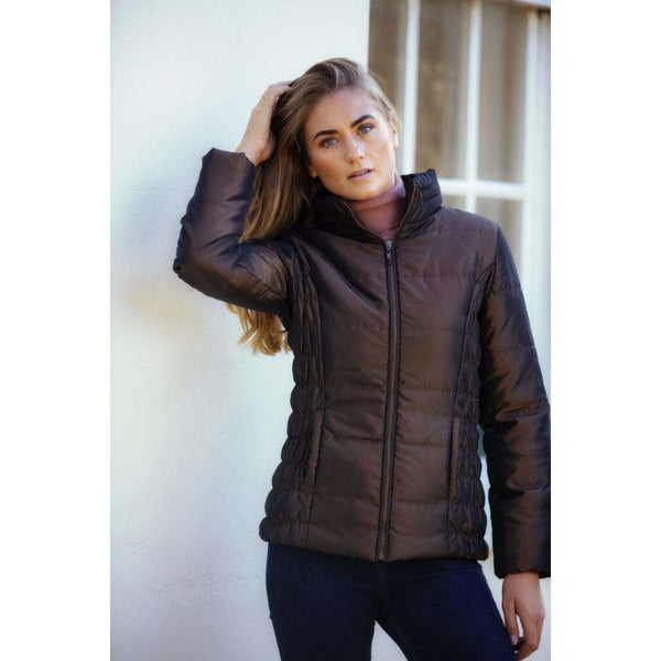 Shimmer Quilted Bronze Jacket - croftonandhall