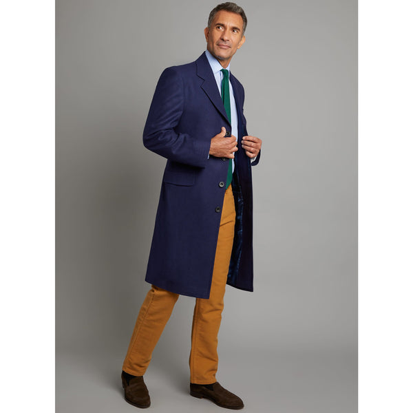 Covert Coat in Loden Navy - croftonandhall