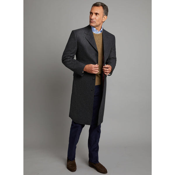 Covert Coat in Loden Grey - croftonandhall