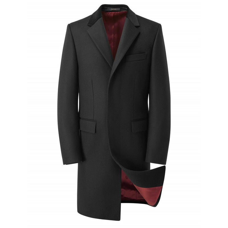 Pure Melton Wool Black Retro Coat - croftonandhall