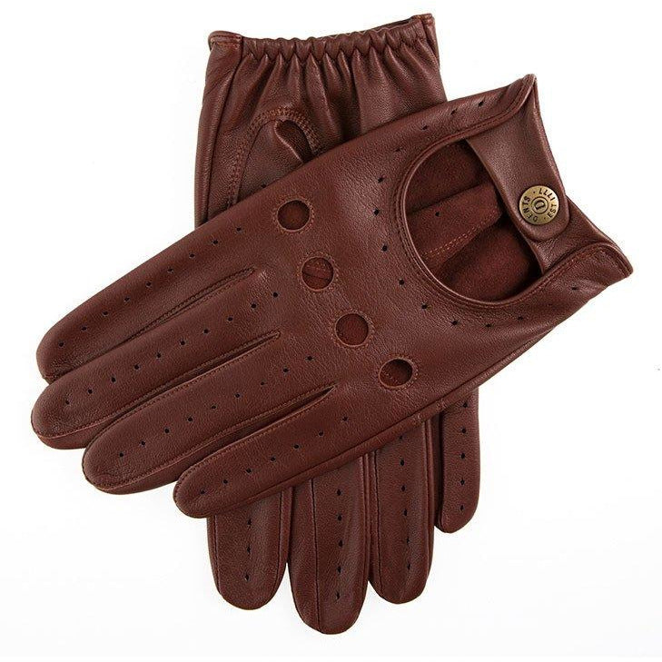Delta Classic Leather Driving Glove in Brown/Tan - croftonandhall