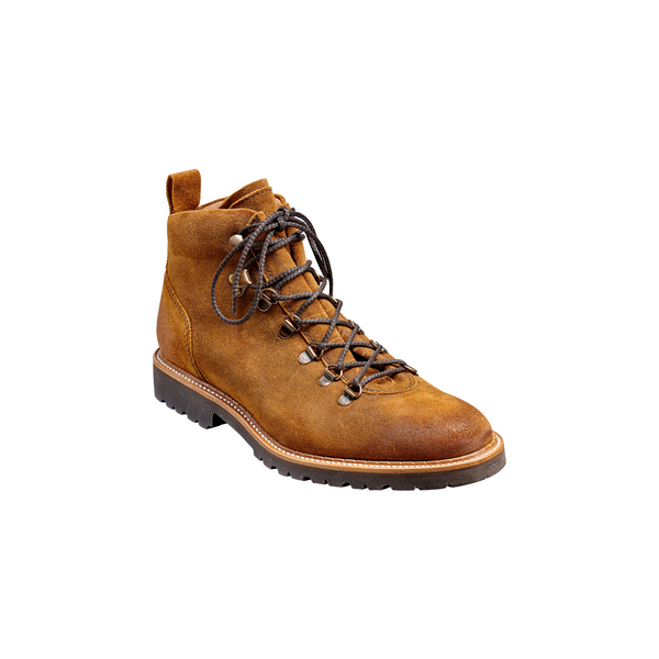 Glencoe Hiker Boot in Tan Burnish Suede - croftonandhall