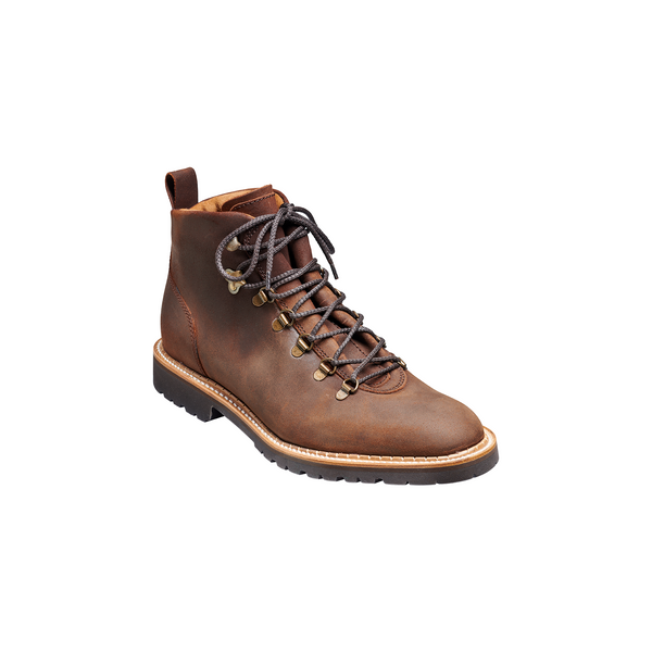 Glencoe Hiker Boot in Mid Brown Wax Suede - Crofton & Hall