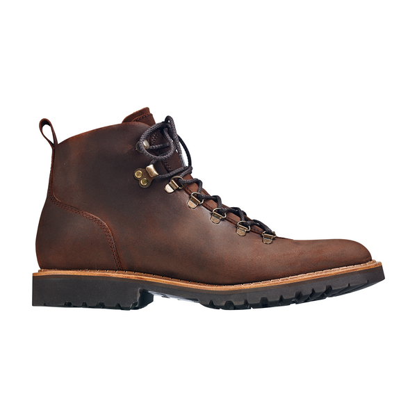 Glencoe Hiker Boot in Mid Brown Wax Suede - croftonandhall