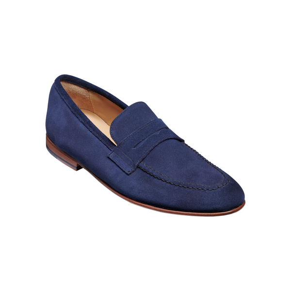 Ledley Loafer in Pacific Blue Suede - croftonandhall