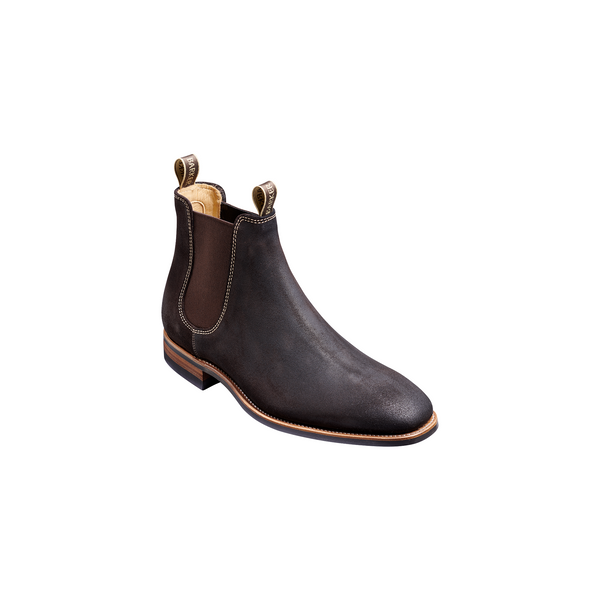 Mansfield Chocolate Burnish Suede Chelsea Boot - Crofton & Hall