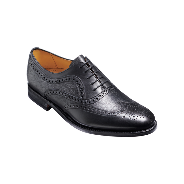 Southport Brogue in Black Calf/Deerskin - Crofton & Hall