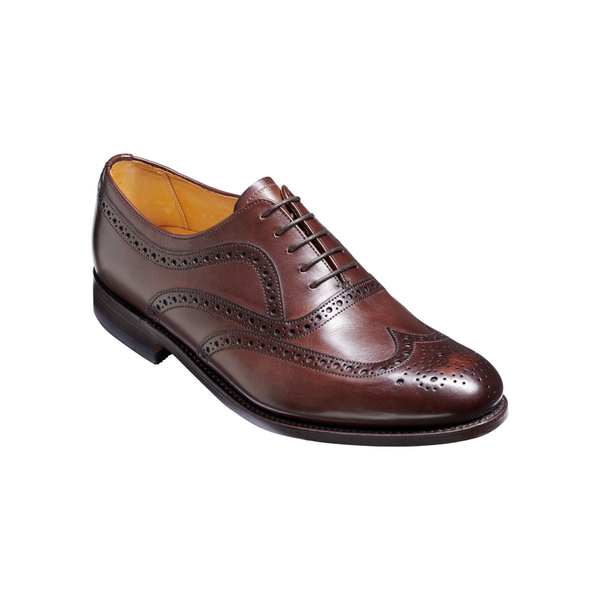 Southport Brogue in Dark Walnut Calf Leather - croftonandhall