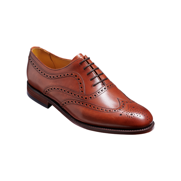 Southport Brogue in Rosewood Colf Leather - Crofton & Hall