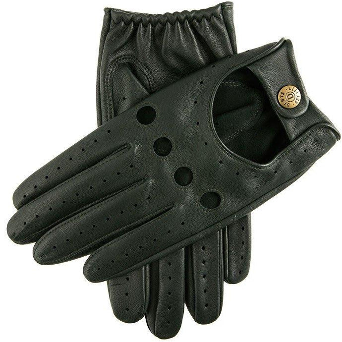 Delta Classic Leather Driving Glove in British Racing Green - croftonandhall