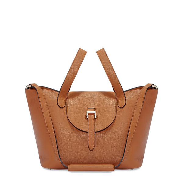 Thela Medium Tan Brown Tote Handbag - croftonandhall