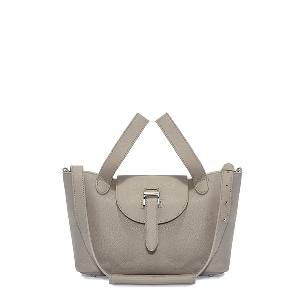Thela Mini Taupe Grey Cross Body Handbag - croftonandhall