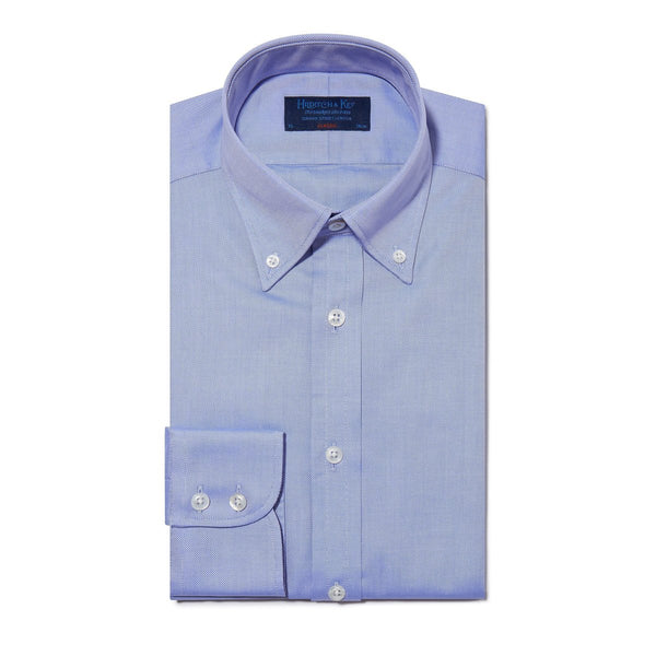 Classic Oxford Button Down Collar Plain Mid Blue Shirt - croftonandhall
