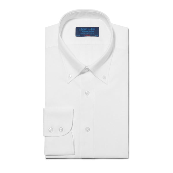 Classic Oxford Button Down Collar White Shirt - croftonandhall