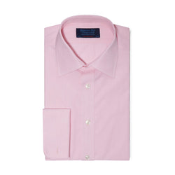 Contemporary Fit, Classic Collar, Double Cuff Pink Shirt - croftonandhall